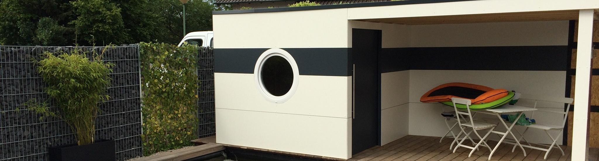 moderne gartenhäuser - wir bauen nach ihren wünschen